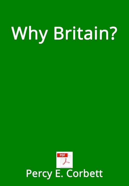 Why Britain?  PDF - Percy Corbett